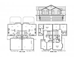 Craftsman Style Open Floor Plans Incredible One Level Duplex Craftsman Style Floor Plans Duplex