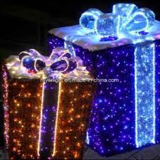 china led light motif light show gift box outdoor