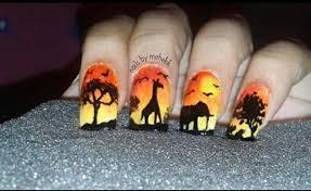 african safari nails nail art gallery