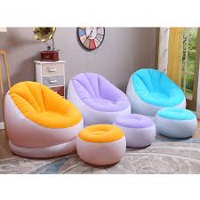 waterproof inflatable sofa portable couch sofa stool pumper