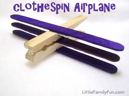 little family fun clothespin airplane