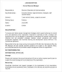 human resources director job description employment planning and