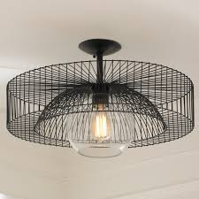 Black Ceiling Light Shade Wire Wheel Semi Flush Ceiling Light Shades Of Light