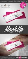 this is an awesome free ticket psd mockup template for those who