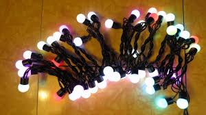slow twinkling christmas lights surlight led slow flashing globe string lights review youtube