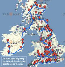 map uk ireland scotland route 57 the uk ireland electric car road trip