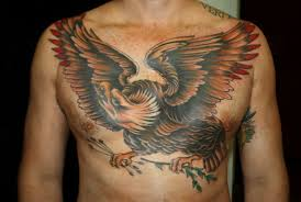color eagle traditional chest by smith tattoos
