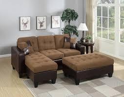 microfiber leather reversible sectional sofa set