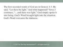 Light Words God U0027s Word Is Light