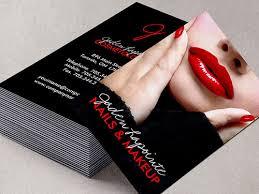 Makeup Business Cards Designs Red Lips Makeup Artist Business Card Template Bakery Business