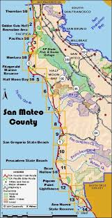 california map half moon bay california coastal trail
