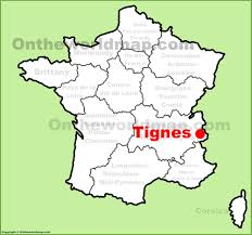 France On A Map by Tignes Location On The France Map