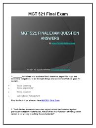 mgt 521 final exam latest university of phoenix strategic
