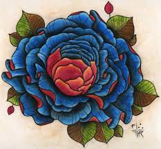 big blue rose tattoo design best tattoo designs