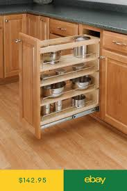 kitchen base cabinets ebay rev a shelf 448 bc 8c 8 pullout base cabinet organizer w