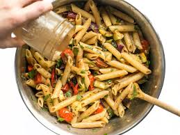 grilled vegetable pasta salad budget bytes