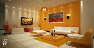 living room ideas orange interior design