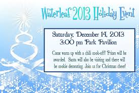 christmas party waterleaf falls