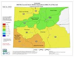 Colorado On The Map by Colorado Snowpack Update Recent Big Snows Mean Some Recovery