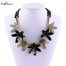 black flower necklace images Buy pf brand hot long leather maxi statement jpg