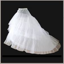 wedding dress underskirt fluffy sweeping three layers court petticoat underskirt
