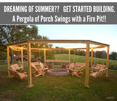 how to build a pergola and fire pit with swings diy craft projects