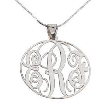 monogram necklace silver sterling silver monogrammed necklace for 49