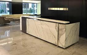 Granite Reception Desk Custom Office Desks Office Decoration References