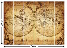 Vintage World Map by 18th Century World Map Wallpaper Wall Mural By Loveabode Com