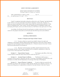 sample jv agreement best resumes curiculum vitae and cover letter