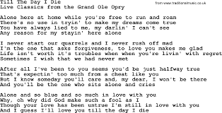 till the day i die by marty robbins lyrics