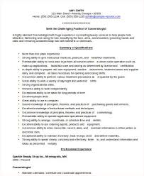 Cosmetologist Resume Template Cosmetologist Resume Sample 6 Examples In Word Pdf