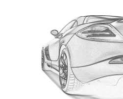 mclaren drawing screenheaven mercedes benz slr mclaren back view cars drawings