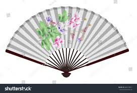 Large Oriental Wall Fans by Ancient Chinese Fan Lotus Stock Vector 486418471 Shutterstock