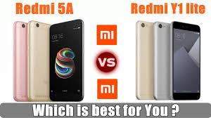 Redmi 5a Redmi 5a Vs Redmi Y1 Lite Whats The Difference