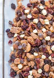cinnamon sugar candied nuts trail mix averie cooks