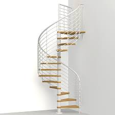 shop arke oak xtra 51 in x 10 ft white spiral staircase kit at