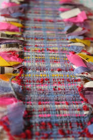 weave with polar fleece strips mihht be interesting for a scarf