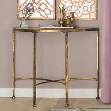 Gold Console Table Gold Console Tables Wayfair Co Uk