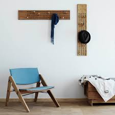 scoreboard oak coat rack by we do wood