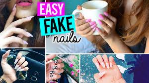 easy fake nails at home salon results u0026 no acrylic youtube