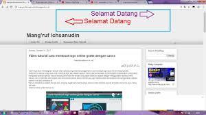 cara membuat blog tulisan tutorial cara membuat tulisan berjalan di header blogspot youtube
