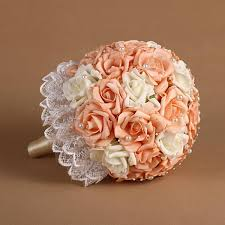 wedding flowers ni chagne ivory bridal bouquet with pearls foam bridal holding