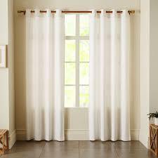 linen cotton grommet curtain white west elm