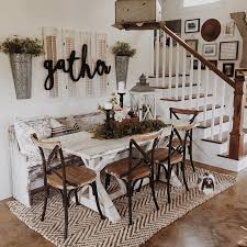 Dining Chair Ideas Dining Room A Stunning Farmhouse Table With Chairs Regard To