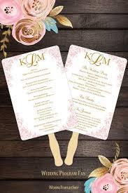 wedding program fan diy wedding program fans templates for diy ceremony fan wedding