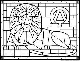 coloring pages stained glass patterns page 1 art components