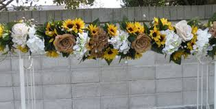 wedding arches decorated with burlap large lush and sunflower burlap arch 6 ft garland