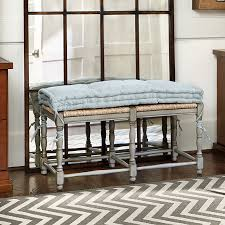 farmhouse 2 seat bench cushion ballard designs