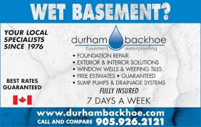 Wet Basement Waterproofing - durham backhoe basement waterproofing and leak repair durham